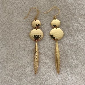 Gold dagger earrings UNWORN and Brand NEW